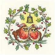Christmas Robins - Aida - Heritage Cross Stitch Kit