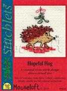 Hopeful Hog - Mouseloft Cross Stitch Card Design
