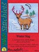 Winter Stag - Mouseloft Cross Stitch Card Design