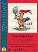 Party Party Party! - Mouseloft Cross Stitch Card Design