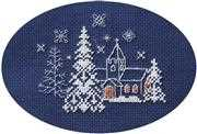 Let it Snow - Derwentwater Designs Cross Stitch Card Design