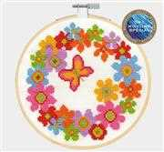 Floral Wreath - DMC Cross Stitch Kit