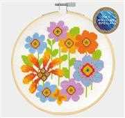 DMC Bright Flowerheads Cross Stitch Kit
