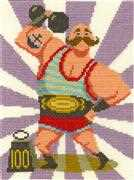 DMC Strongman Stanley Cross Stitch Kit