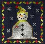 DMC Jolly Snowman Christmas Card Making Christmas Cross Stitch Kit