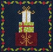 Christmas Gifts - DMC Cross Stitch Card Design