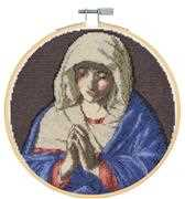 The Virgin in Prayer - Sassferrato - DMC Cross Stitch Kit