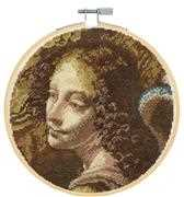 Angel from the Virgin on the Rocks - Da Vinci - DMC Cross Stitch Kit