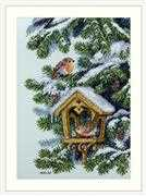 Merejka Robins Cross Stitch Kit
