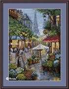 Rainy Paris - Merejka Cross Stitch Kit