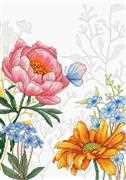 Luca-S Flowers and Butterfly Cross Stitch Kit