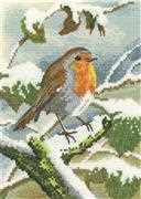 Heritage Robin in Winter - Aida Christmas Cross Stitch Kit
