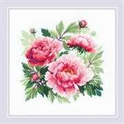 RIOLIS Tree Peony Cross Stitch Kit