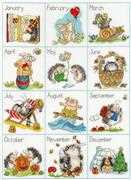Bothy Threads Calendar Creatures Cross Stitch Kit
