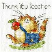 Bothy Threads An Apple for Teacher Card Cross Stitch Kit