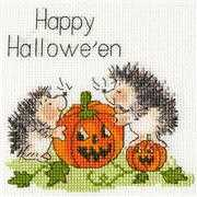 Bothy Threads Jack O'Lantern Card Cross Stitch Kit