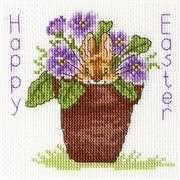 Bothy Threads Easter Bunny Card Cross Stitch Kit