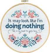 Permin Doing Nothing Cross Stitch Kit