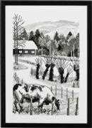 Permin The Old Farm Cross Stitch Kit