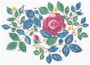 Anchor Rose Garden Cross Stitch Kit