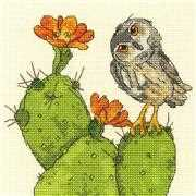 Dimensions Prickly Owl Cross Stitch Kit