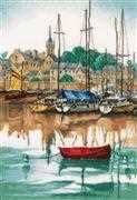 Lanarte Sunrise at Yacht Harbour Cross Stitch Kit