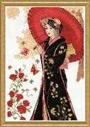 Red Parasol - Design Works Crafts Cross Stitch Kit