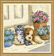Kitten and Puppy - Design Works Crafts Cross Stitch Kit