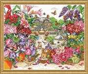 Design Works Crafts Full Bloom Garden Cross Stitch Kit