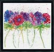 Design Works Crafts Modern Anemones Cross Stitch Kit