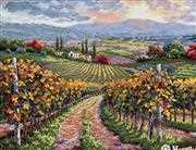 Merejka Vineyard Hill Cross Stitch Kit