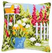 Vervaco In My Garden Cushion Cross Stitch Kit