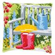 Vervaco My Garden Cushion Cross Stitch Kit