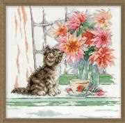 Curious Kitty - Design Works Crafts Cross Stitch Kit