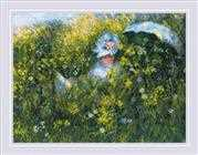 RIOLIS In the Meadow - Monet Cross Stitch Kit