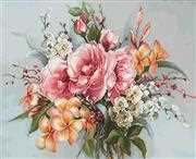 Luca-S Flower Bouquet Cross Stitch Kit