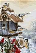Luca-S Bird House Christmas Cross Stitch Kit