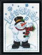Design Works Crafts Let it Snow Christmas Cross Stitch Kit