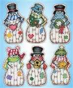 Design Works Crafts Country Snowmen Ornaments Cross Stitch Kit