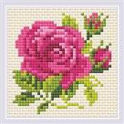 RIOLIS Pink Rose Craft Kit