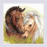 RIOLIS Pair of Horses Cross Stitch Kit