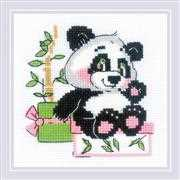RIOLIS Panda Gift Cross Stitch Kit