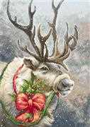 Luca-S Christmas Deer - Petit Point Kit Tapestry