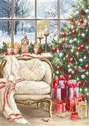 Luca-S Christmas Interior Design Cross Stitch Kit