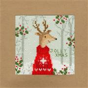 Bothy Threads Xmas Deer Christmas Card Making Christmas Cross Stitch Kit