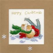 Bothy Threads Apres Ski Christmas Card Making Cross Stitch Kit