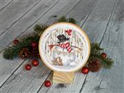 Dimensions Joyful Snowglobe Cross Stitch Kit