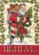 Dimensions Believe in Santa Christmas Cross Stitch Kit