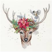 Dimensions Woodland Deer Christmas Cross Stitch Kit