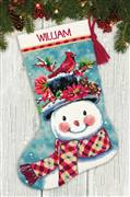 Dimensions Seasonal Snowman Stocking Tapestry Kit
